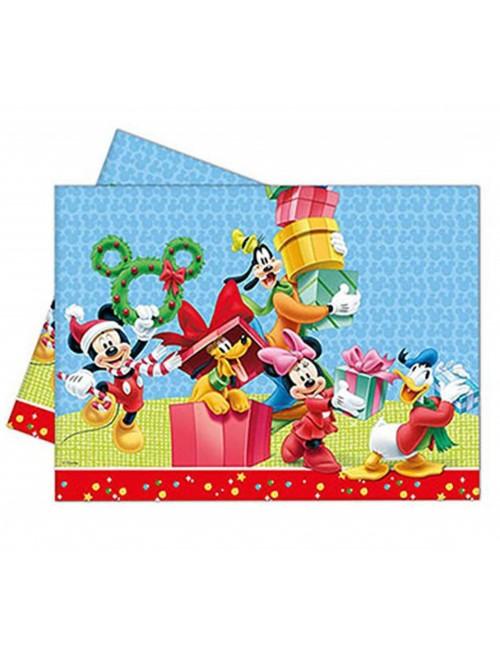 Fata de masa Craciun cu Minnie si Mickey, 120 x 180 cm