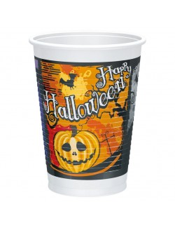 Set 10 pahare Halloween, plastic, 200 ml
