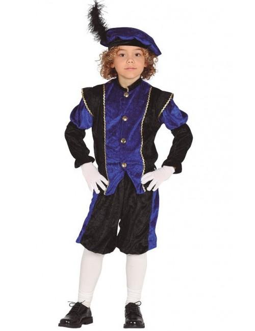 Costum Print, albastru-negru, copii 3-4 ani
