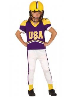 Costum Jucator fotbal american, copii 5-12 ani