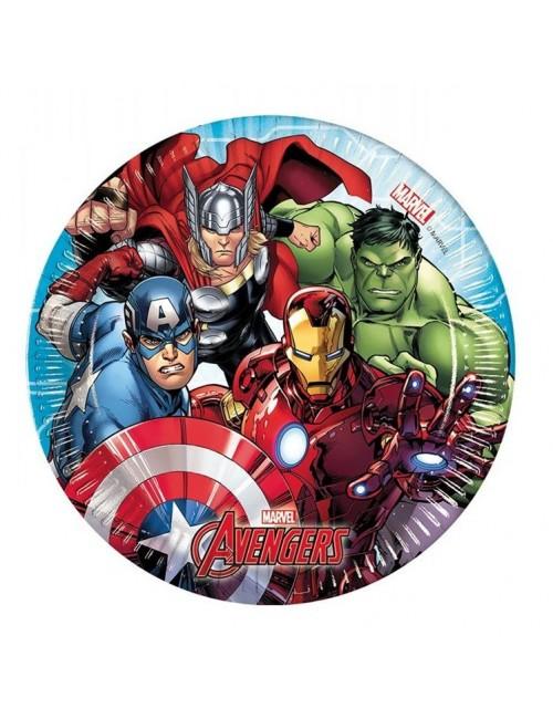 Set 8 farfurii petrecere, Avengers, 20 cm