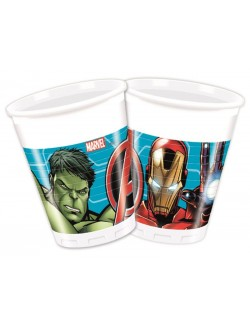 Set 8 pahare Avengers, 200 ml, plastic