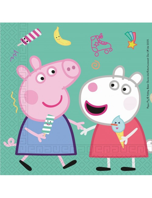 Set 20 servetele, Peppa si George, 33 x 33 cm