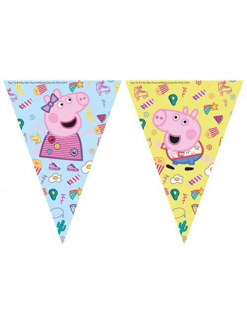 Ghirlanda decor, Peppa Pig & George, 230 cm