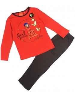 Pijama Buburuza, rosu-negru, copii 4 - 8 ani