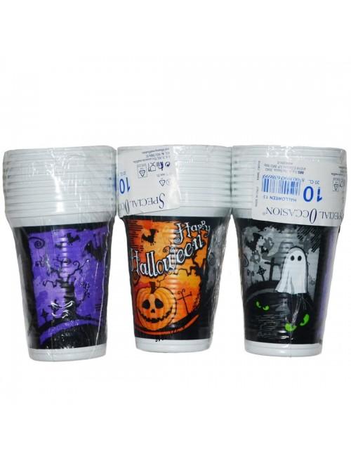 Set 10 pahare Halloween, plastic, 200 ml