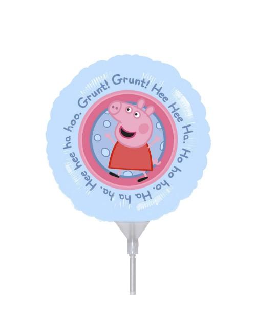 Balon folie Peppa Pig, rotund, 23 cm