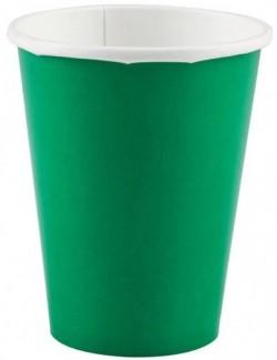 Set 8 pahare carton, culoare verde, 266 ml