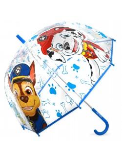 Umbrela manuala Paw Patrol, transparenta