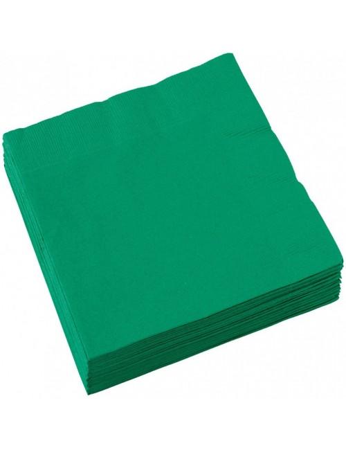 Set 20 servetele Verzi, 33 x 33 cm