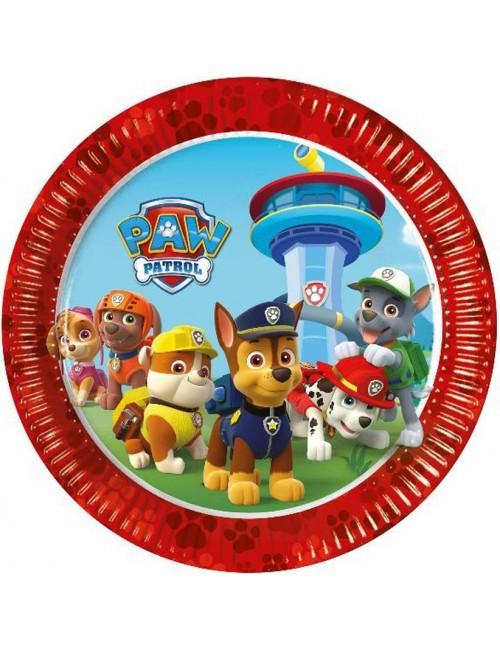 Set 8 farfurii petrecere, Paw patrol, 23 cm