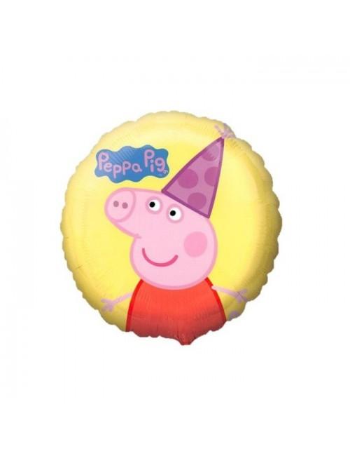 Balon folie Peppa Pig, galben, 43 cm