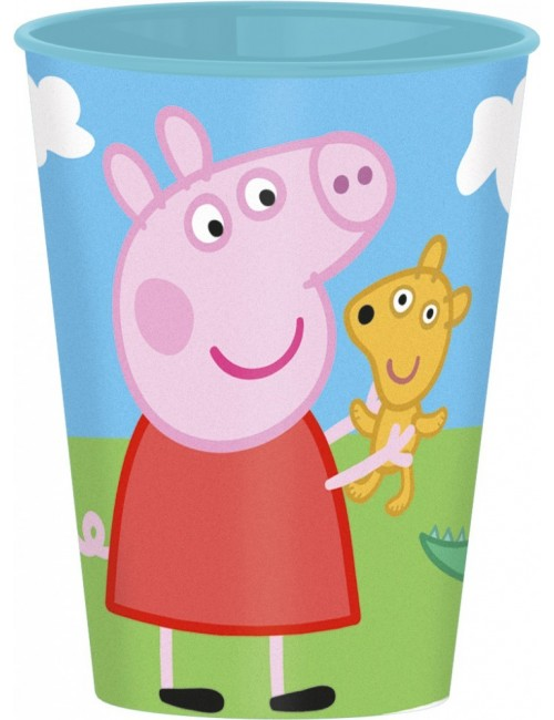 Pahare plastic 260 ml Peppa Pig & George