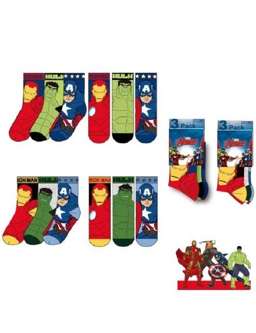 Set 3 perechi sosete Super-eroi Avengers, 23-34