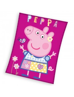 Paturica Peppa Pig, polar-fleece, 110 x 140 cm