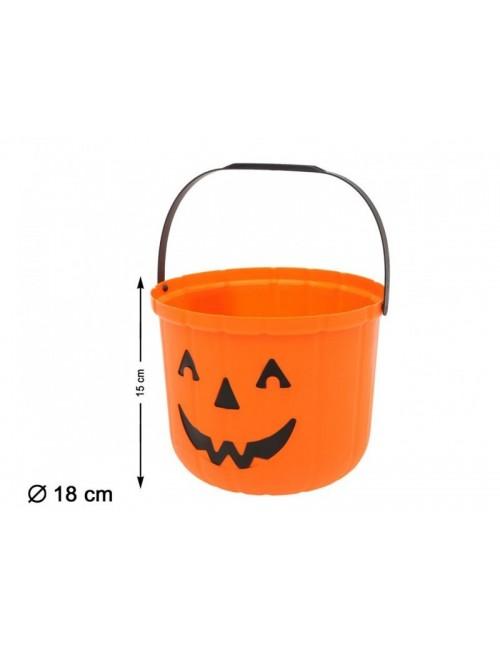 Cosulet Halloween Dovleac, plastic, 15 cm