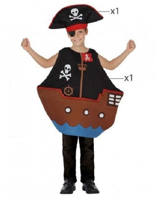 Costum Barca Pirati, unisex, copii 3-6 ani