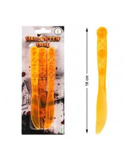 Set 6 Cutite portocalii Halloween, 17 cm