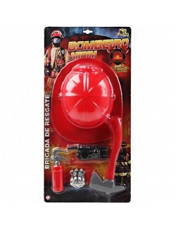 Set accesorii pompier - 5 piese
