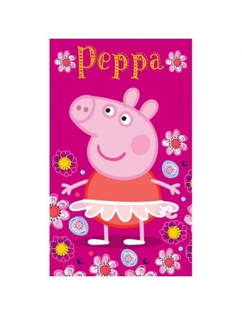 Prosop Peppa Pig, fucsia, 30 x 50 cm