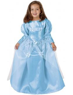 Costum Printesa, bleu, copii 3-12 ani