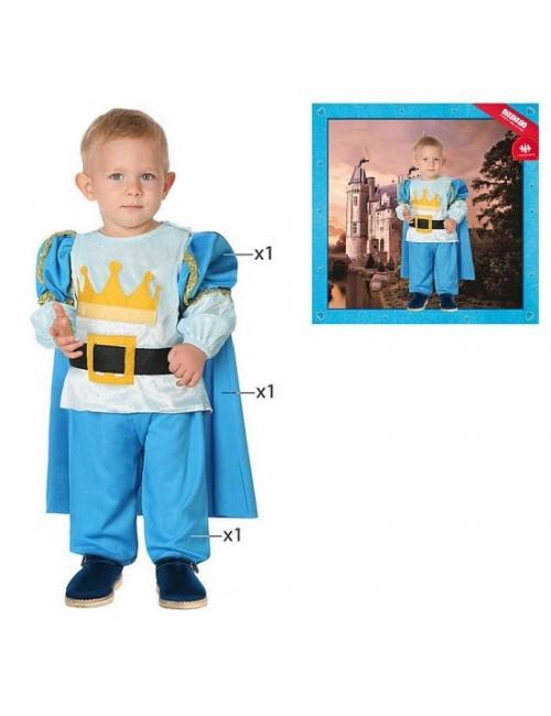 Costum Print, albastru, copii 2-3 ani