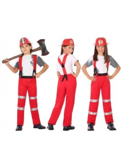 Costum Pompier, unisex, pentru copii 3-12 ani