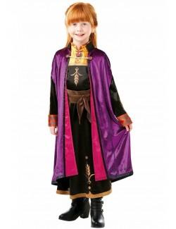 Costum Ana Frozen 2, Deluxe, copii 3-8 ani