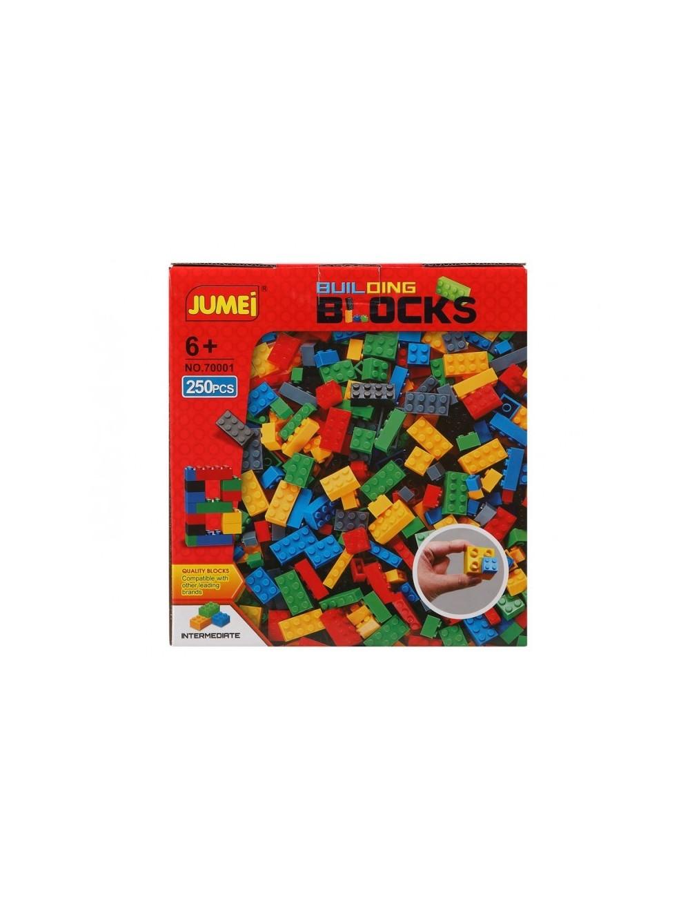 Cuburi constructii, plastic, 250 piese
