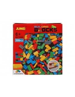 Cuburi constructii, plastic, 500 piese