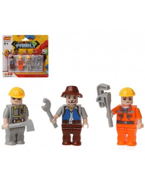 Set 3 Figurine si accesorii, pentru jocuri constructii