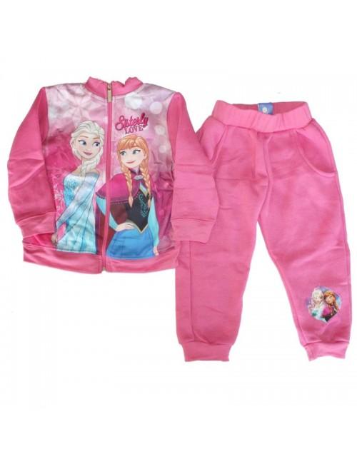 Trening Frozen Ana si Elsa, roz,  copii 3-8 ani