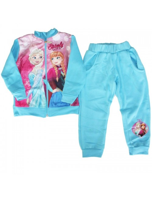 Trening Frozen Ana si Elsa, bleu, fete 3-8 ani