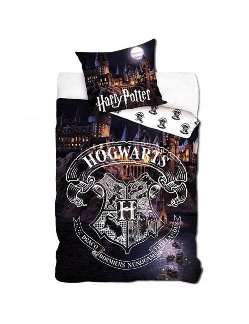 Lenjerie pat, Harry Potter Scoala Hogwarts, 160 x 200 cm