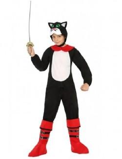 Costum Motanul incaltat, copii 3-4 ani