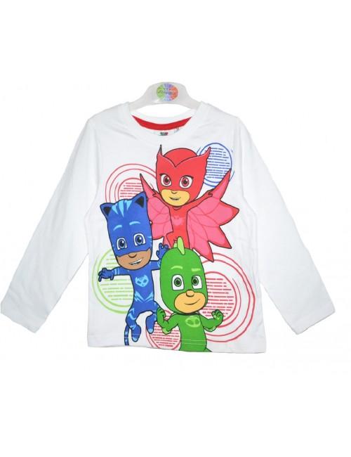 Bluza alba, PJ Masks - Eroii in pijamale, copii 3-8 ani