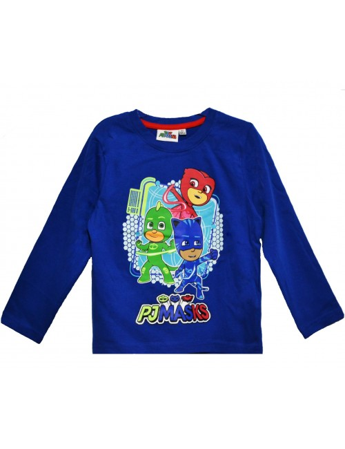 Bluza copii, PJ Masks - Eroii in pijamale, 3-8 ani, albastra