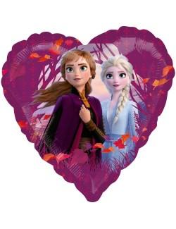 Balon folie Frozen 2, inima, 43 cm