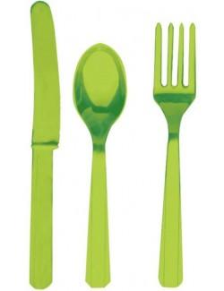 Set 24 tacamuri, verde kiwi