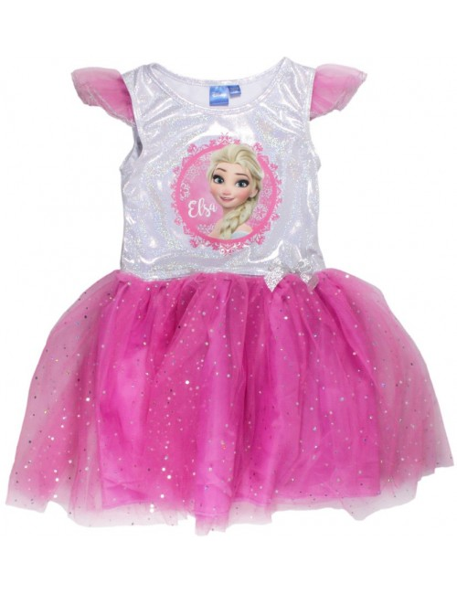 Rochie tutu Elsa Frozen, roz, 98-128 cm