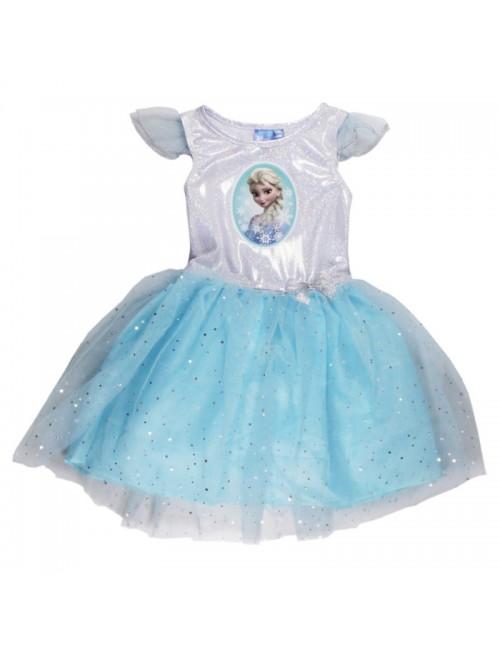 Rochie tutu Elsa Frozen, bleu, 98-128 cm