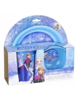 Set masa Frozen, 3 piese, bleu