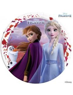 Set 8 farfurii petrecere Frozen II, 23 cm