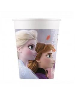 Set 8 pahare carton, Frozen II, 200 ml