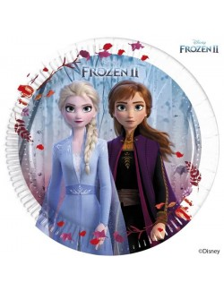 Set 8 farfurii petrecere Frozen II, 20 cm