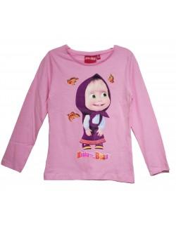 Bluza Masha cu fluturi, roz, copii 2-8 ani