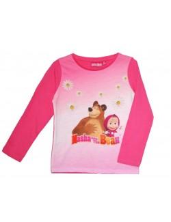 Bluza Masha si Ursul, fucsia, copii 2-8 ani