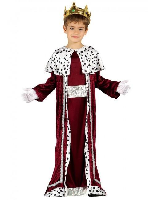 Costum serbare Rege Mag, visiniu, copii 3-6 ani
