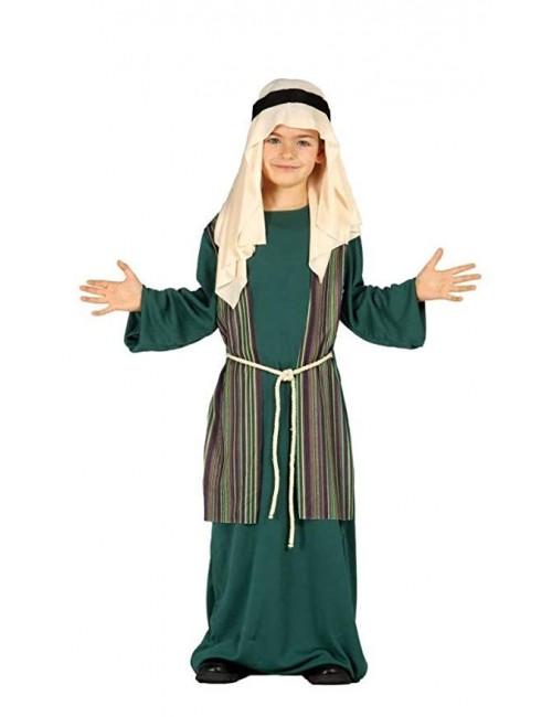 Costum Sfantul Iosif / Pastor, verde, copii 3-9 ani