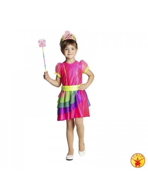 Costum fete: Rochita Zana Curcubeu